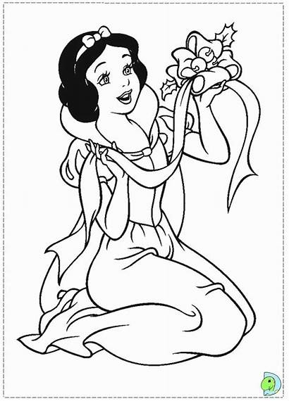 Coloring Snow Pages Disney Princess Printable Christmas