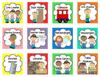 preschool helper jobs classroom helper chart 25 and free 635
