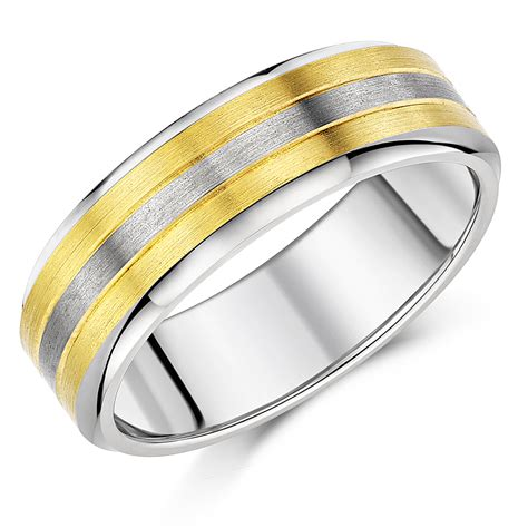 sale 8mm titanium two tone wedding ring band clearance at elma uk jewellery