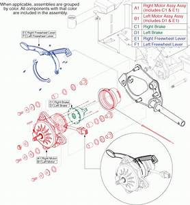 Jazzy Select Gt Replacement Parts In Motors    Freewheel