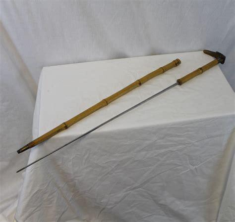 bargain johns antiques dog handle antique bamboo cane