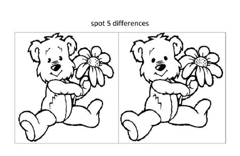 spot  difference worksheets  kids activity shelter