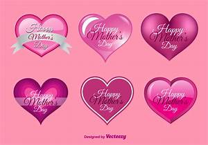 Happy Mother's Day Hearts - Download Free Vector Art ...