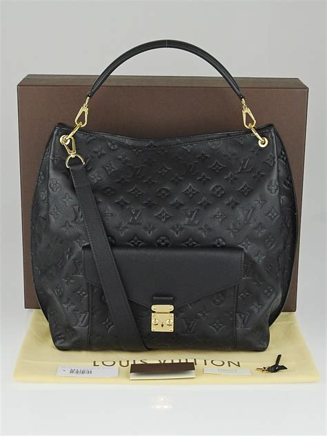 louis vuitton black monogram empreinte leather metis bag yoogis closet