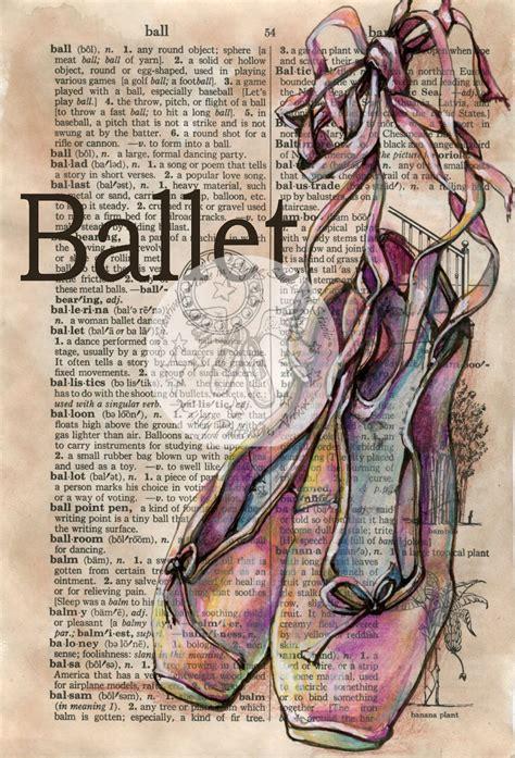 ballet mixed media drawing