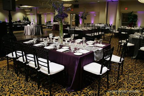 this charcoal and plum color scheme looked so rich and