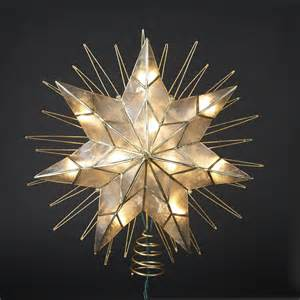 14 lighted capiz sunburst 7 point star christmas tree topper clear lights ebay