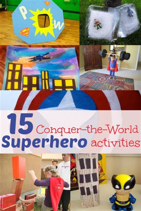 15 activities for to conquer on 670 | Superhero activities for kids great list of easy activities