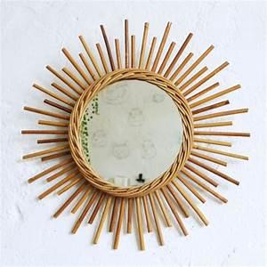 Petit Miroir Rotin : miroir rotin vintage forme soleil atelier du petit parc ~ Melissatoandfro.com Idées de Décoration