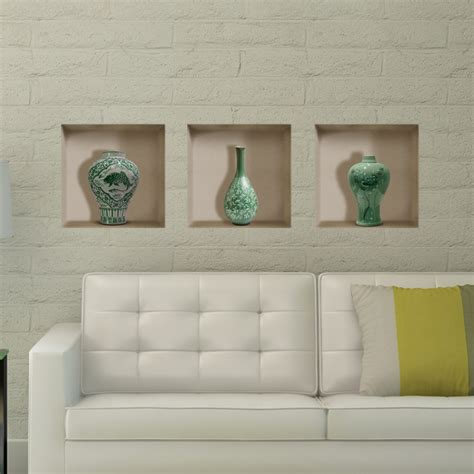 home interior pictures wall decor ceramic vase 3d lattice wall decals pag removable