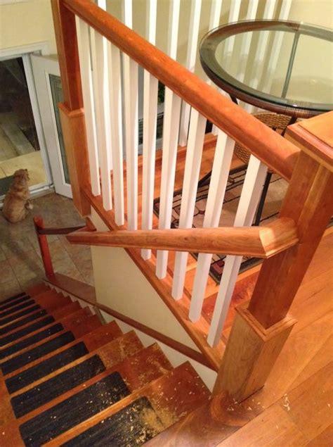 cherry staircase newel post railng  jim