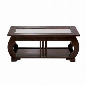 Table Basse Art Deco : table basse en verre et mahogany massif l 100 cm art d co maisons du monde ~ Teatrodelosmanantiales.com Idées de Décoration