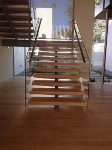 StairArt - Glass and Stainless Steel on Floating Stairs