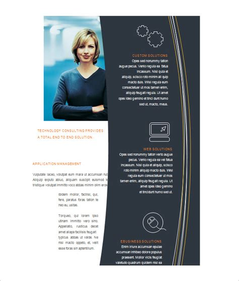 Brochure Template Microsoft Word by Microsoft Brochure Template 49 Free Word Pdf Ppt
