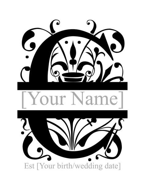 split monogram personlised  monogram fonts monogram fonts cricut monogram