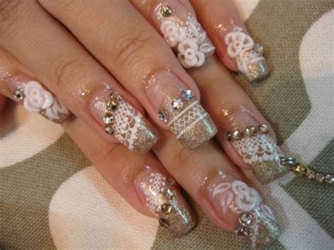 Nail Art For Wedding Ideas : Gorgeous Wedding Nail Art Ideas
