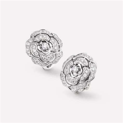 flower studs earrings chanel
