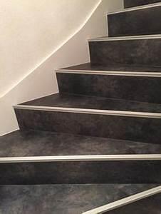 marche beton cire avec nez de marche inox escalier With peindre rampe escalier bois 7 maytop tiptop habitat habillage descalier renovation