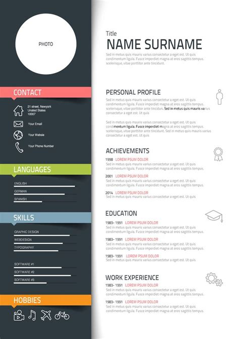 ideas  graphic designer resume  pinterest