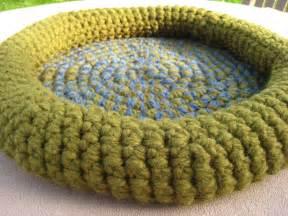 Crochet Rag Rug Patterns by Pattern Cat Bed Crochet Crabby Kitten Pet Bed Pattern Pdf