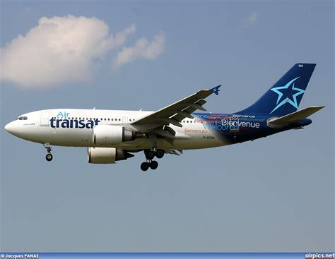 air transat login airpics net c gtsh airbus a310 300 air transat large size