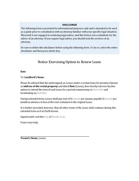 tenant renewal letter renew lease letter docoments ojazlink