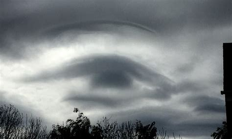 Giant Eye Forms In The Clouds Over Leeds