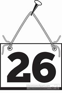 Numbers Clipart- number-twenty-six-hanging-on-board-with ...