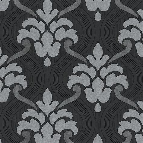 tapete barock grau vlies tapete barock muster ornament schwarz grau silber metallic glitzer kaufen bei joratrend e k