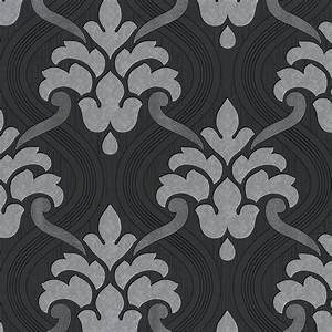 Tapete Muster Grau : vlies tapete barock muster ornament schwarz grau silber ~ Michelbontemps.com Haus und Dekorationen