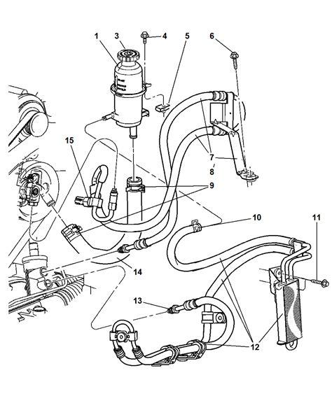 2003 Jeep Liberty Vacuum Hose Diagram by 52129342ab Genuine Mopar Line P S Pressure And Return