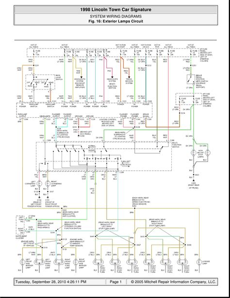 lincoln town car signature system wiring diagrams