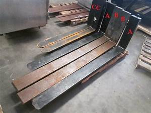 Pair Of 2 Forklift Forks 2