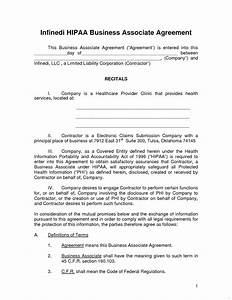 new photos of business associate agreement hipaa With baa agreement template
