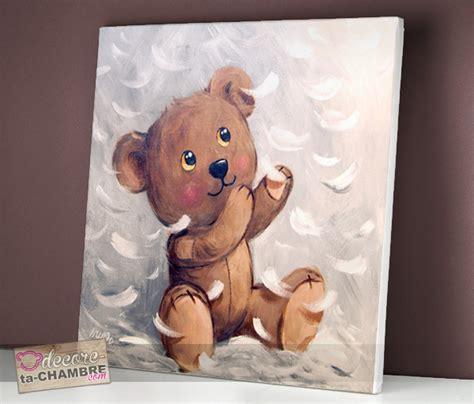 tableau chambre bébé garçon tableau ourson tendresse vente tableau ourson pour