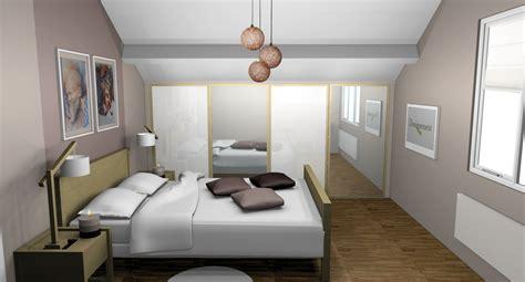 chambre couleur taupe placard chambre sous pente