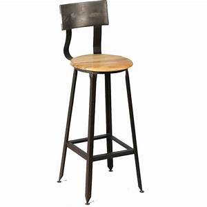 Chaise En Acier : chaise haute industriel en bois et acier ~ Teatrodelosmanantiales.com Idées de Décoration