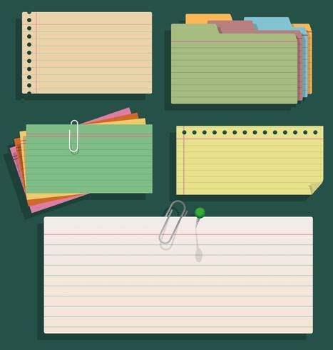 group  index cards vector   vector art
