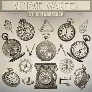 Watch Clip Art Clipart: Vintage Watches clipart