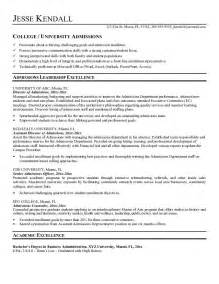 resume objective for admission free admissions director resume exle
