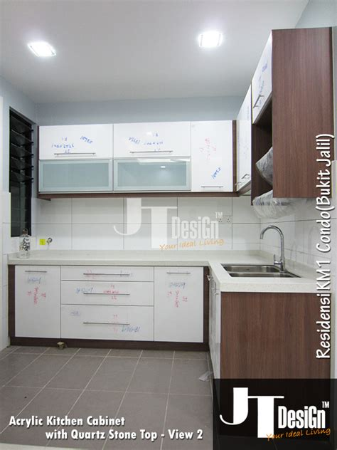 kitchen cabinets with frosted glass kitchen cabinet at residensi km1 view 2 material door 8171