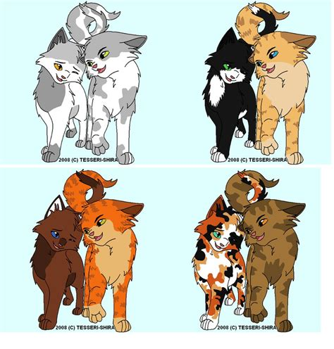 anime couple and cat warrior cat couple breedables by ask1leafpool on deviantart