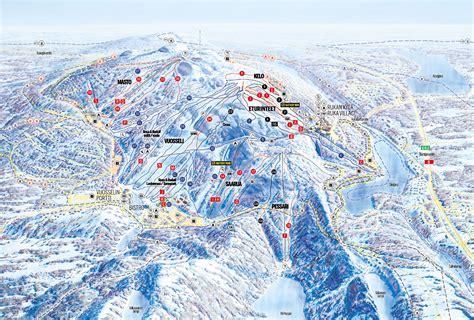ruka ski resort guide location map ruka ski holiday