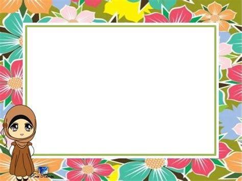 cute muslimah girl border  tbk rose kemta desain
