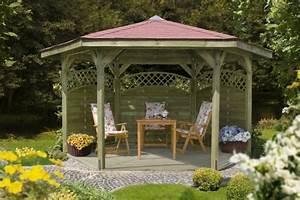Gartenpavillon Mit Festem Dach Metall