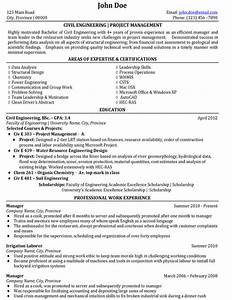 civil engineer resume sample template With sample resume of a civil engineer