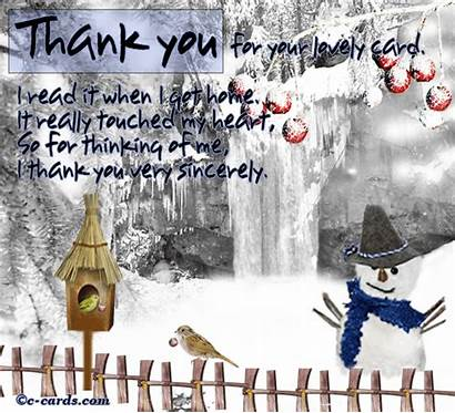 Winter Thank Ecard Card Greetings Cards Greeting