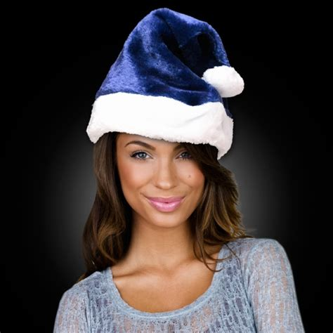 personalized navy blue santa claus hat usimprints