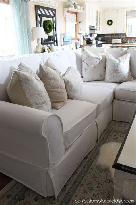 How To Make A Slipcover For A Sectional Sofa by Sectional Slip Cover Reveal For The Home Sectional