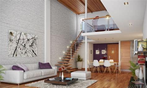 papier peint salon moderne papier peint brique pour un salon de style industriel